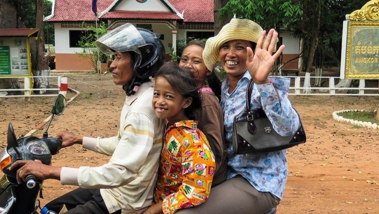 Famille cambodgienne